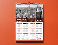 Wall Calendar Design 2019