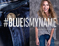 BLUE IS MY NAME denim campaign