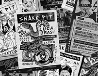 Snake Pit Gig Posters