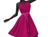 3D Dynamic Marvelous Designer Dress Garment
