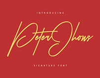 PETER JHONS - Signature Font
