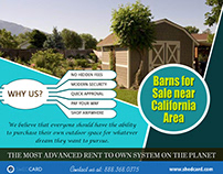Barns For Sale Near California Area | 888.368.0375
