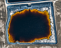 AERIAL VIEWS PHOSPHATE MINING IN FLORIDA