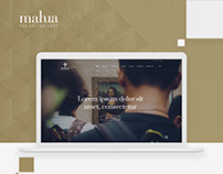 Mahua The Art Gallery - Website Design. UI/UX