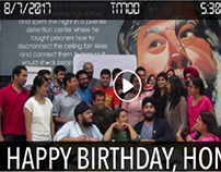 Video for Club Member's Birthday