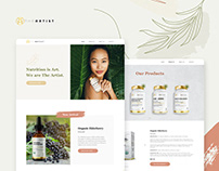 Responsive Website for a Natural Supplements Brand