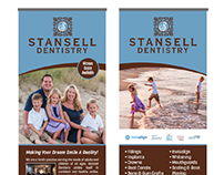 Layout for retractable banner stands