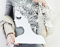 Paper cutting silhouette