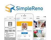 SimpleReno UI/UX & Logo Design