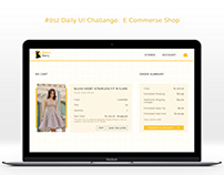 #012 Daily UI Challenge E commerce shop