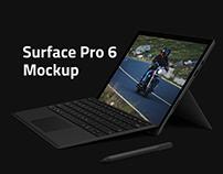 Surface Pro 6 Mockup PSD | Free Download