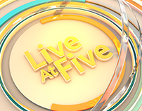 STV Live At Five titles & graphics