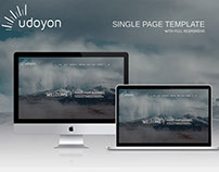 UDOYON Single page PSD template