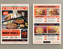 Pop Art Food flyer / menu