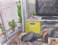 #Inktober day 6 - living room