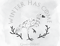 Game Of Thrones - Winter Has Come (Tribute Poster)