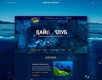 Diving club RusExtrim Web Concept