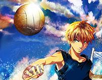 VolleyBall Digital Art Illustration
