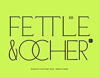 ED Fettle & Ocher Display Font Duo