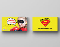 5 Free Superhero themed business cards for kids!