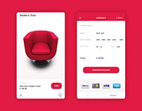 payment screen, Cart screen