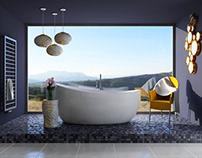 Bathroom in Bieszczady Mountains / Interior Design