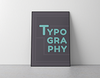 Typography Only Poster