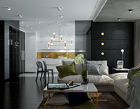 Black-and-white apartment  in Limassol