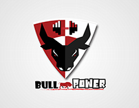 Logo design for bull power (GYM)