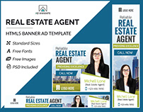 Real Estate Agent Banner- HTML5 Banner Ad Templates