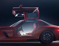 Mercedes AMG SLS Side