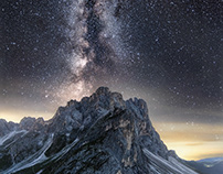 Dolomites milkyway - shooting & timelapse