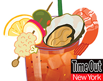 Time Out NY: bloody mary spot illustration