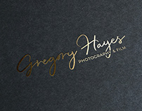 Script Logo -Gregory Hayes Photography and Film