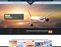 Jet Charter Flights - Joomla template