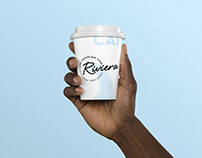 Riviera Cocktail Bar Branding
