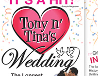 Tony n' Tina's Wedding Art Direction & Graphic Design