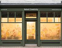 Naked Creativity window frosting