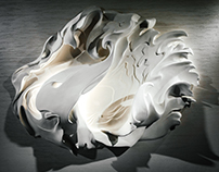 Wall Decor BasRelief Shell (Lamp on the wall)