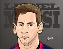 Caricature of Lionel Messi