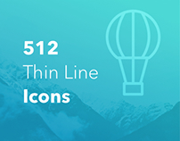 512 Thin Line Icon Pack