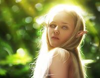 Elven Girl Digital Painting