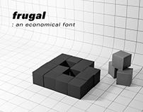 frugal: an economical font
