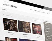 Diseño web tienda Online l Lamparas home