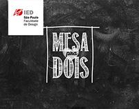 Title Design | Mesa Para Dois (comic book)