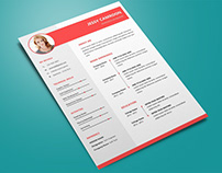Free Microsoft Word Resume Template with Trendy Design