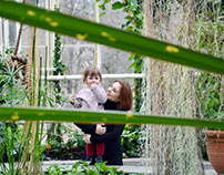 mom & daughter photo shoot. botanical garden theme