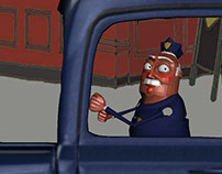 Cartoony Driver