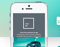 Alarmauto app - app design ux ui