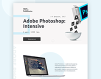 Landing page for the Adobe Photoshop intensive course